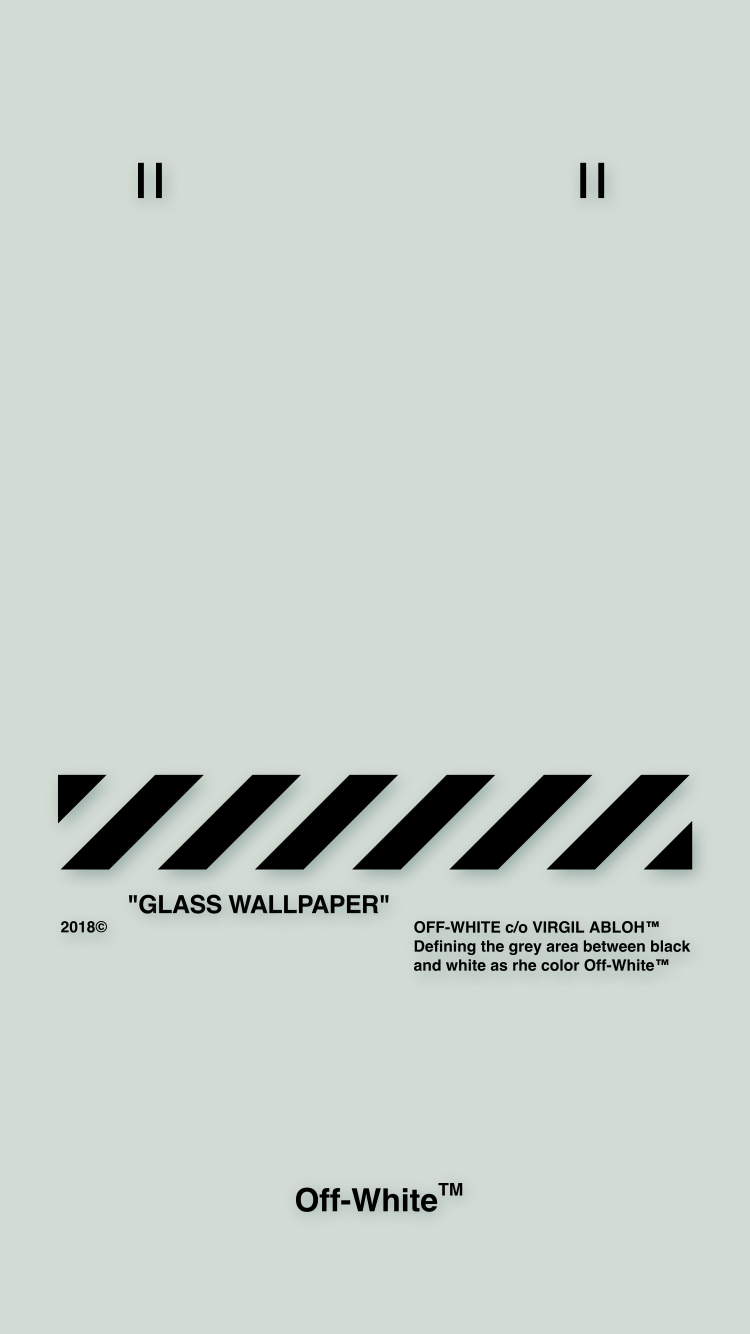 Off White Wallpaper Iphone 壁紙 18 5 2 Glass Wallpaper Offwhite