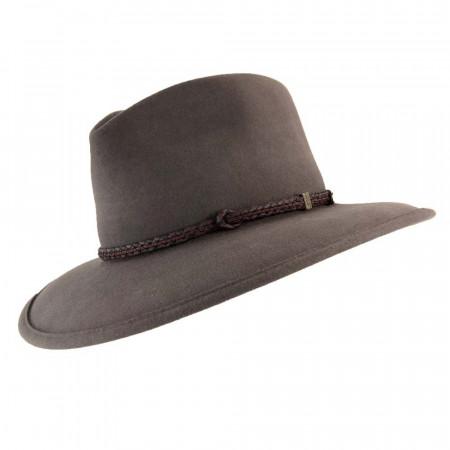 Akubra Traveller Regency Fawn Akubra Black And Brown Hat Band