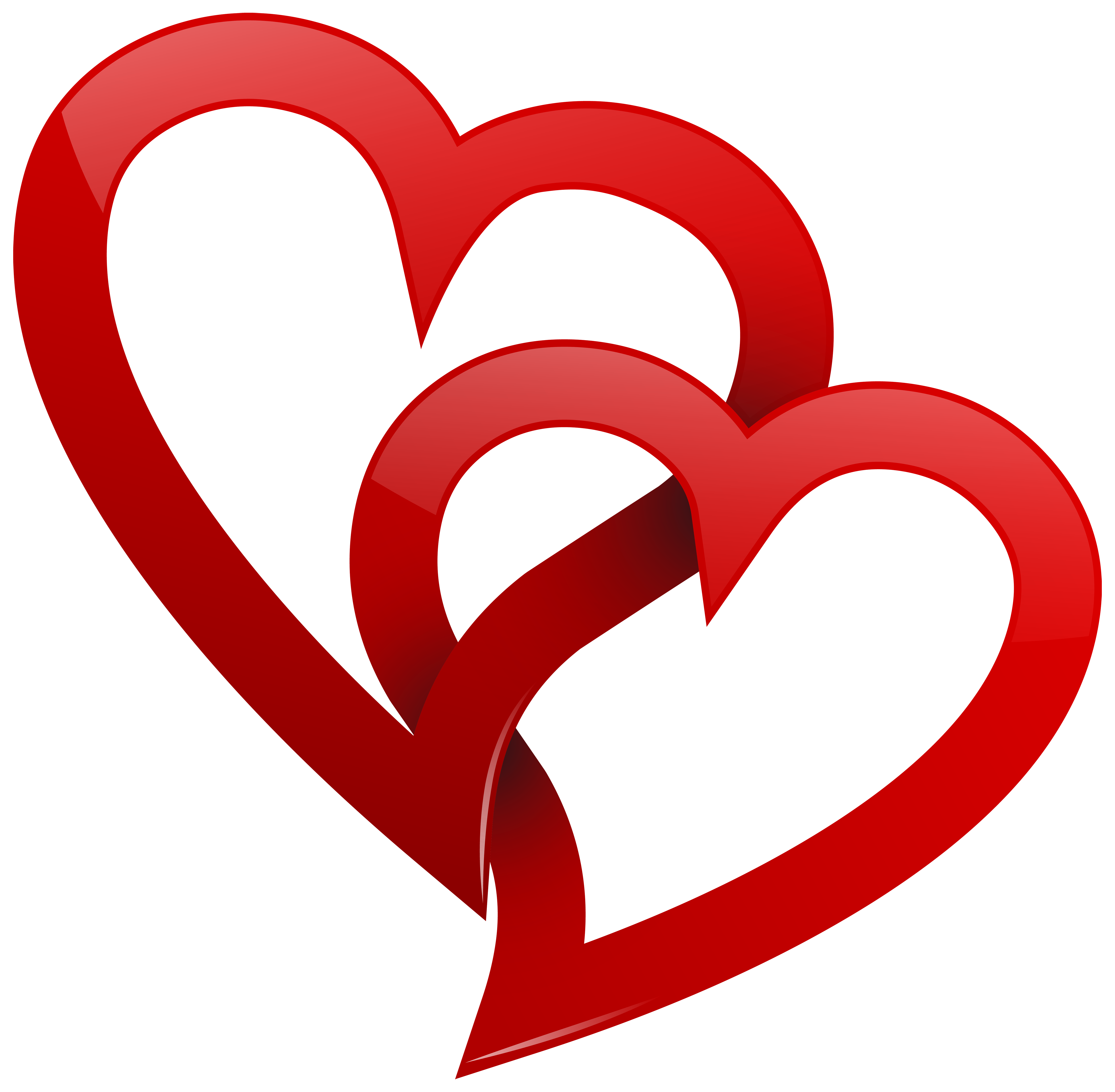 Two Red Hearts PNG Clipart Best WEB Clipart Clip art