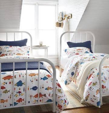 Percale Sheets Fish N Bobber Sheet Set Duvet Cover And Sham Percale Sheets Sheet Sets Duvet Covers