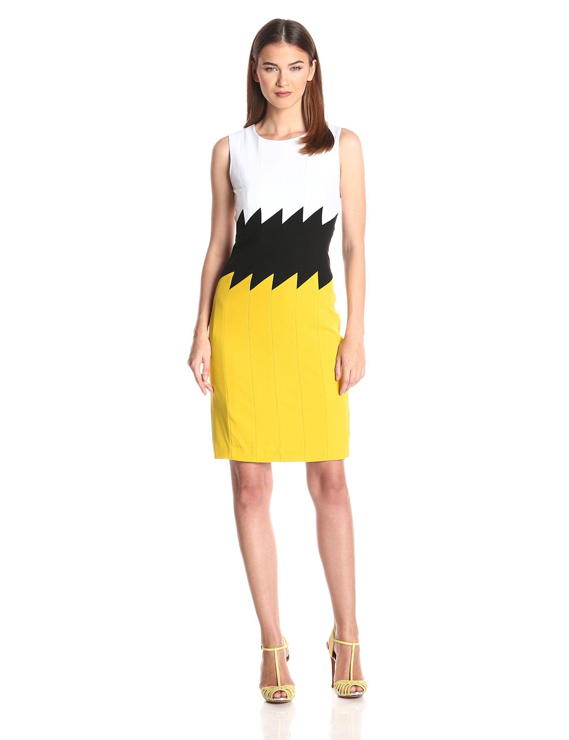 12++ Calvin klein colorblock sequin sheath dress trends