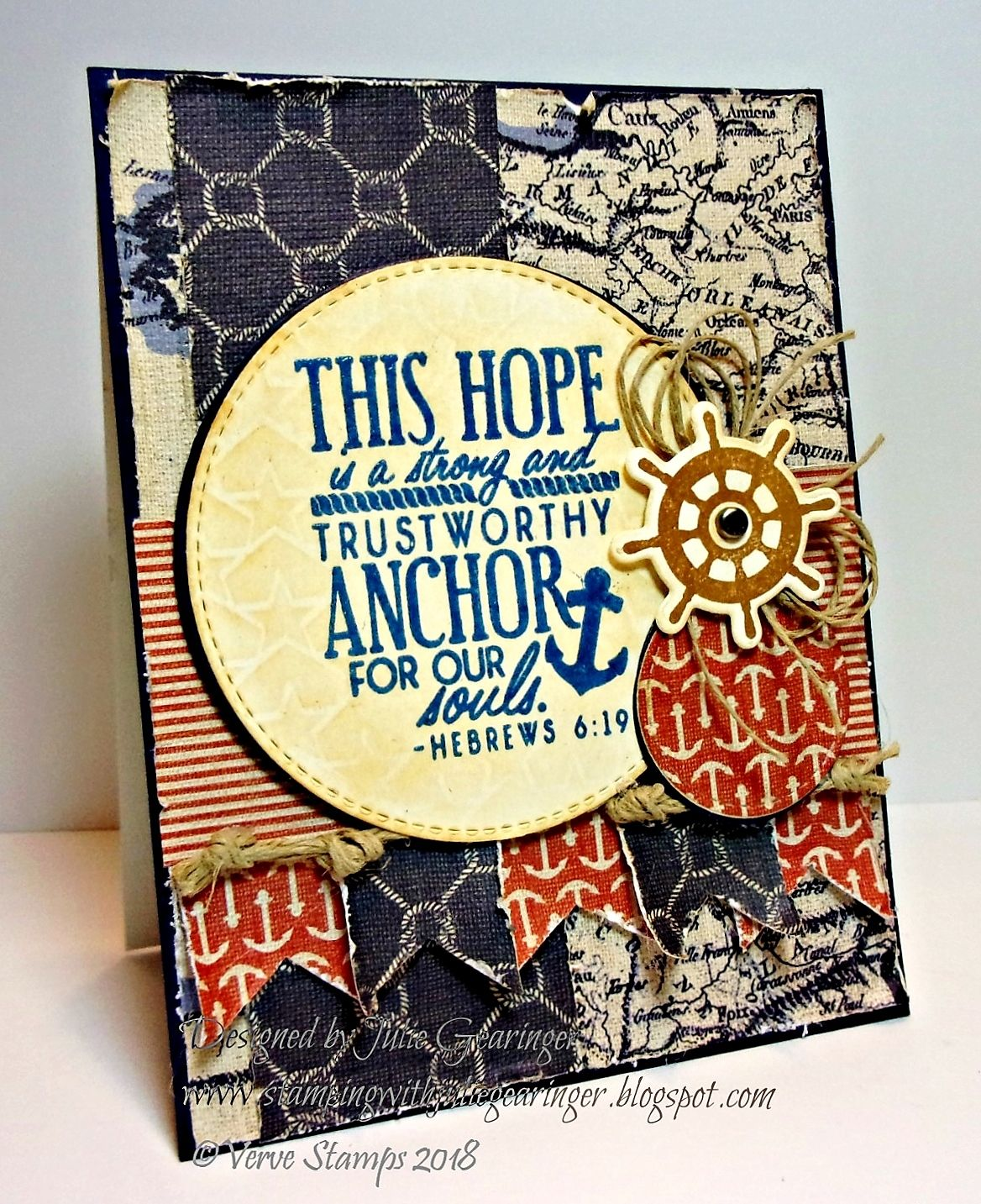 Trustworthy Anchor for Our Souls Verve stamps, Cards