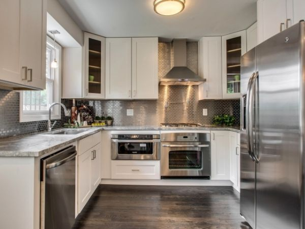 Silver Kitchens Ideas Inspiration Backsplash For White