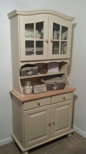 Dresser in Annie sloan old Ochre | Shabby chic dresser ...