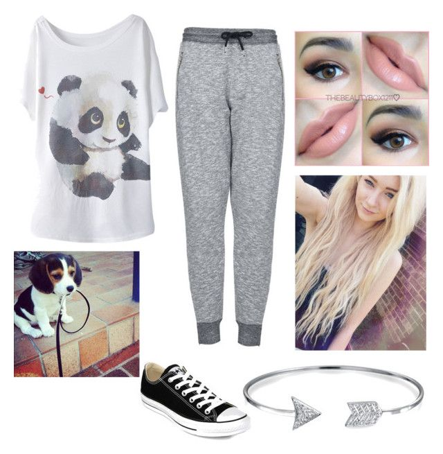 """""""Taking the dog a walk?"""" by cheywins14 ❤ liked on Polyvore featuring мода, Topshop, Converse, Payne, Korres и Bling Jewelry"""