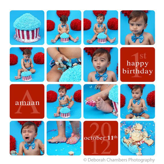 Cake Smash template, Storyboard template, Cake Smash Storyboard - photography storyboard template
