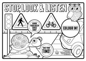 Free Coloring Pages Of Road Safety For Children Road Signs