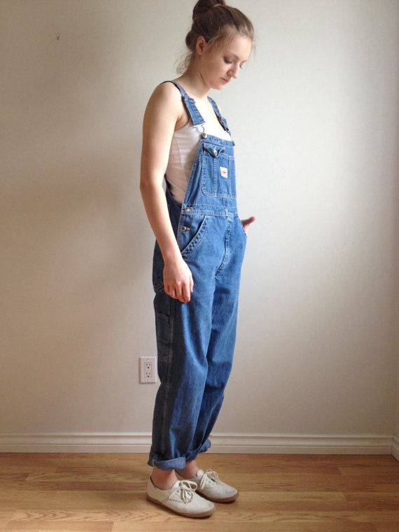 797233980629d 90s Overalls Baggy Overalls Denim Bib Dungarees by MileZeroVintage Baggy  Dungarees, Blue Jean Overalls,