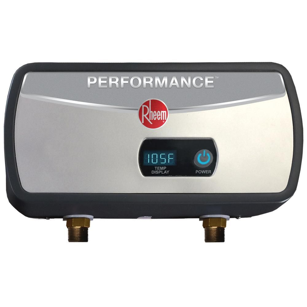 Rheem Performance 6 Kw 1 0 Gpm Point Of Use Electric Tankless Water Heater Retex 06 Heat Exchanger Sink Faucets Classic Series