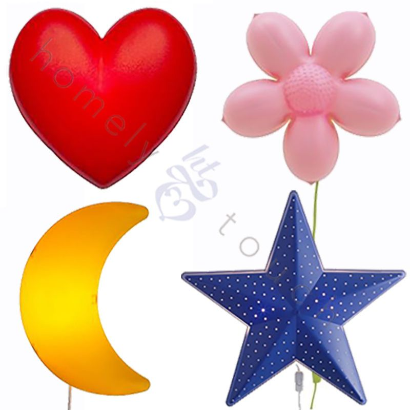 ikea childrens lighting. Ikea Children Kids Light Wall Mounted Lights Star Moon Heart Flower Home Decor Childrens Lighting