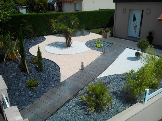 Amenagement jardin sans pelouse jardin pinterest for Amenagement pelouse