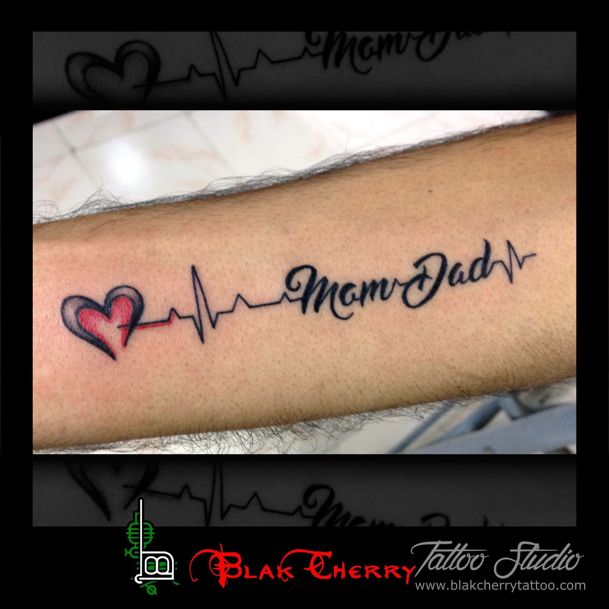 Mom dad with heartbeats tattoo and art pinterest dads and tattoo tattoo biocorpaavc Image collections