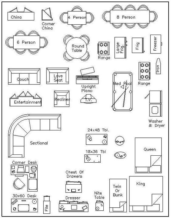 Free printable furniture templates furniture template for Furniture templates for room design