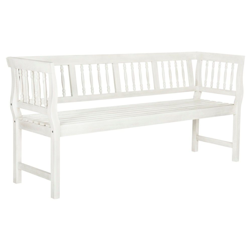 Brentwood Bench - Antique / White - Safavieh, Beige