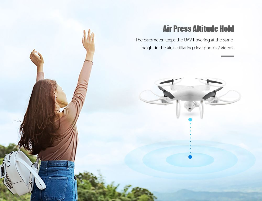 Feature of this drone with gps :  Rotatable 720P HD camera
