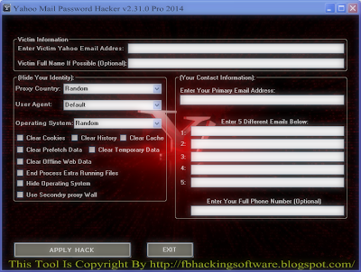 free hacking yahoo email password software download