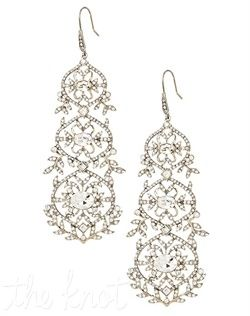 Dangly Sparkly Earrings Zuri Vintage Crystal Chandelier