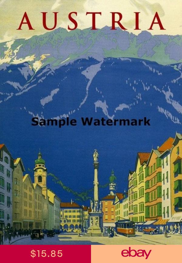 Austria Vienna European Landscape Lovely Vintage Travel Poster Repro FREE S//H
