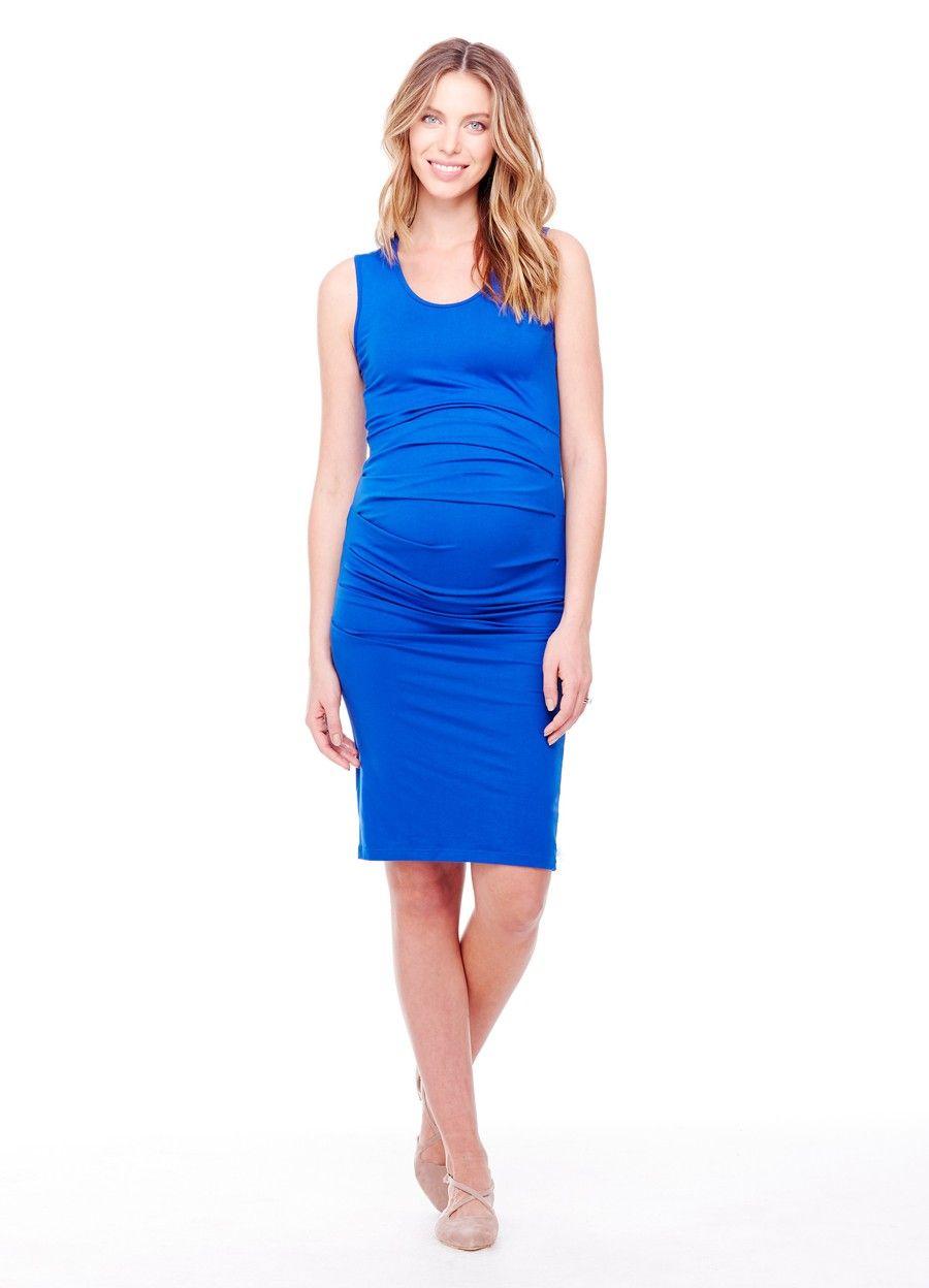 Lace dress for pregnant  Ingrid u Isabel Maternity Pleated Tank Dress  Dresses  Shop