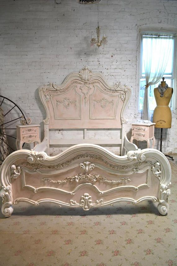 Painted Cottage Shabby Chic Romantic Angel Queen / King Bed | Camas ...
