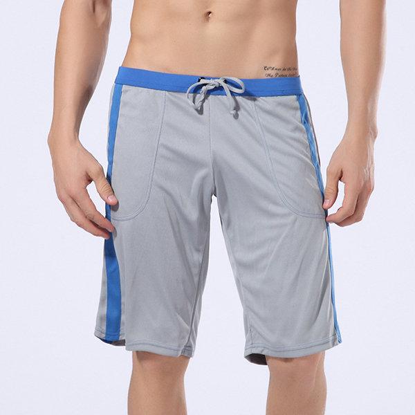83809970c9 Mens Summer Breathable Drawstring Overknee Casual Running Shorts in ...