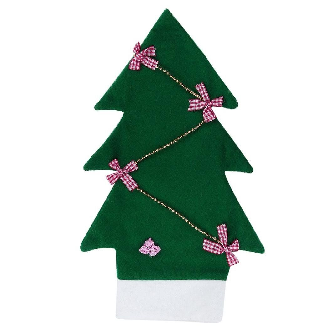 Iuhan Christmas Tree Shape Wine Bottle Sets Home Party Decorations ...