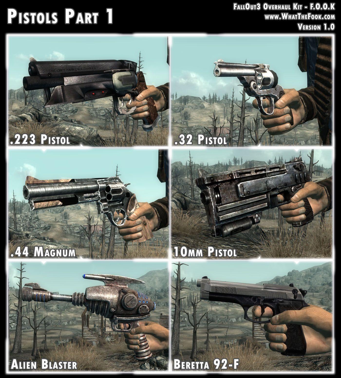 Fallout 3 Overhaul Kit Pistols Fallout New Vegas Fallout Cosplay Fallout Funny