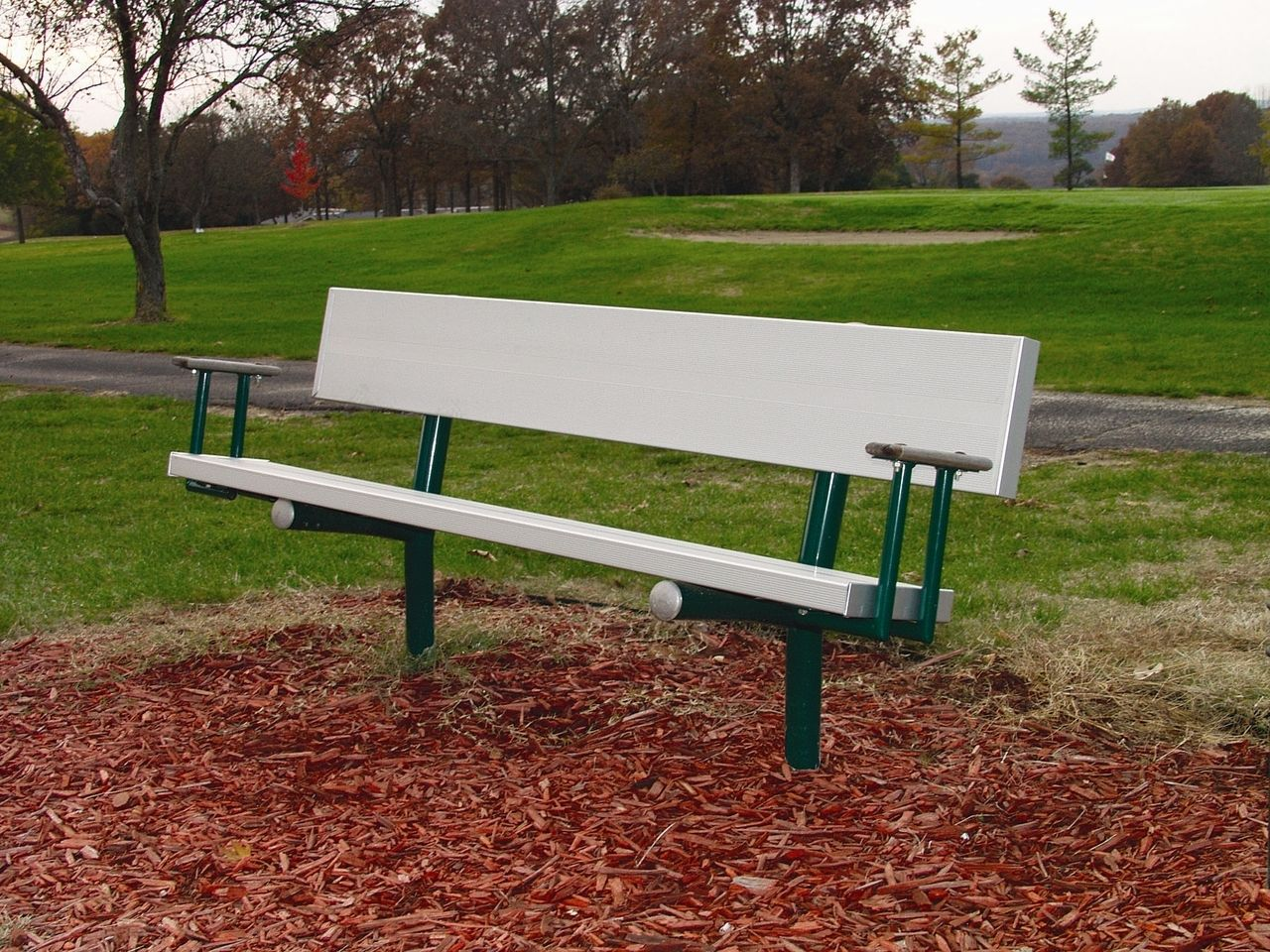 Super 6 Permanent Bench With Arms Park Benches Bench Outdoor Caraccident5 Cool Chair Designs And Ideas Caraccident5Info