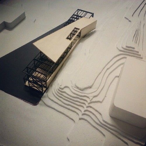 Structure model for a media arts center