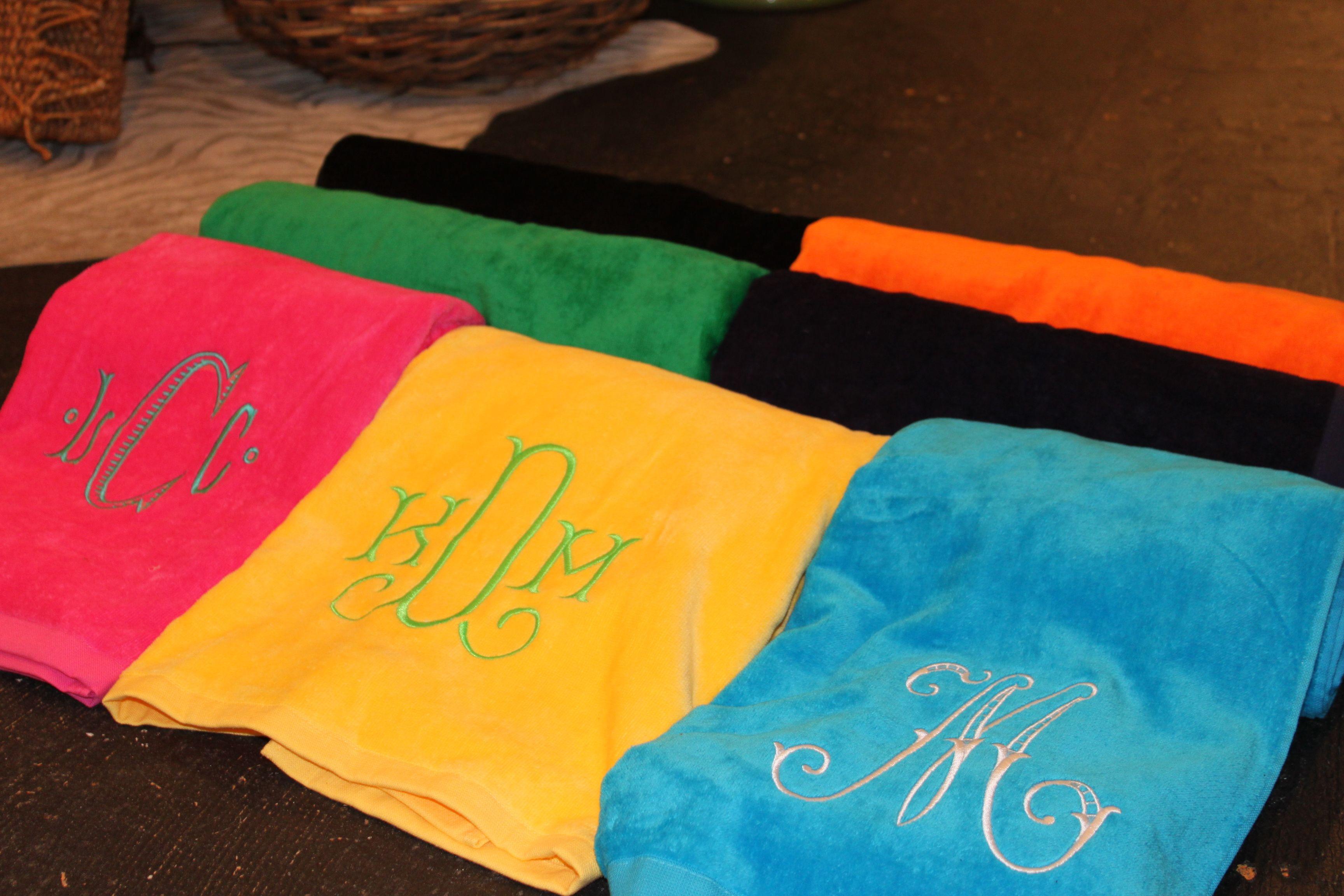 Just in time for Spring Break...Monogrammed Beach Towels