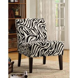 Beautiful Zebra Print Chair For Living Room Fabric Lounge