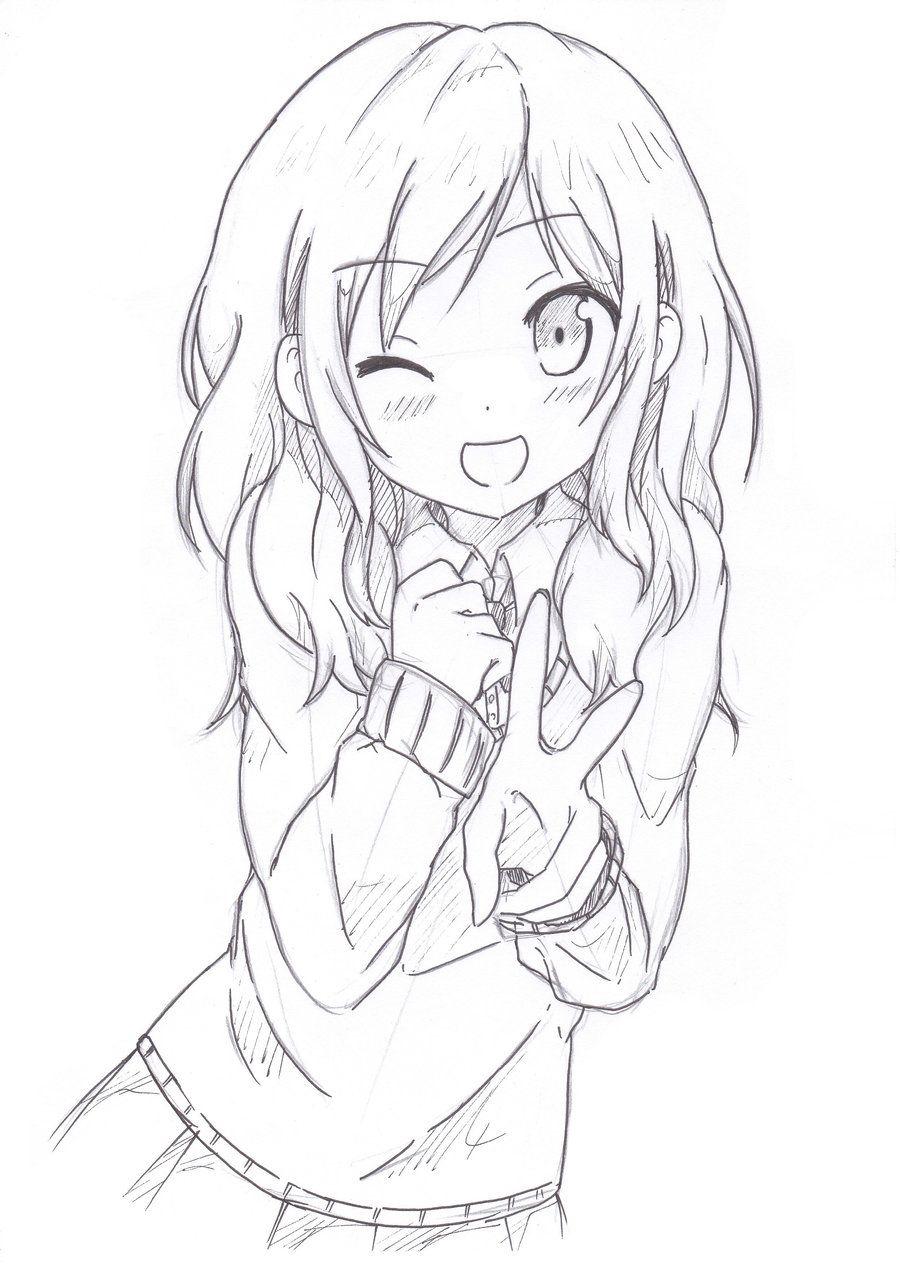Sketching By Khai90 Deviantart Com Desenhos Kawaii Desenho De