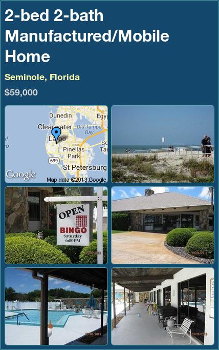 2 Bed Bath Manufactured Mobile Home In Seminole Florida 59000