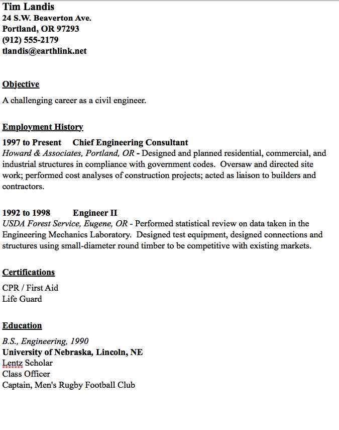 Civil Engineer Resume Sample  HttpResumesdesignComCivil