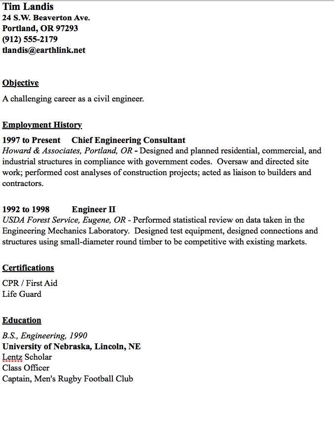 Civil Engineer Resume Sample - http://resumesdesign.com/civil ...