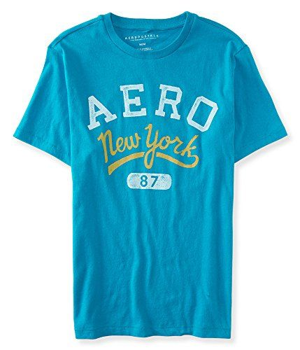 31a31cda Aeropostale Men's New York Logo Graphic T Teal Large 7891... https:/