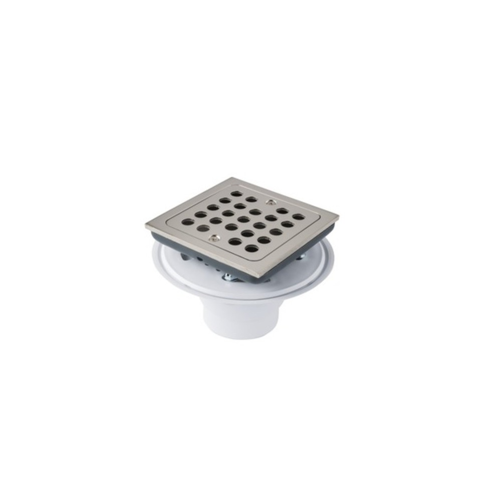 Monogram Brass Mb608 4 1 2 Square Shower Drain With Adjustable