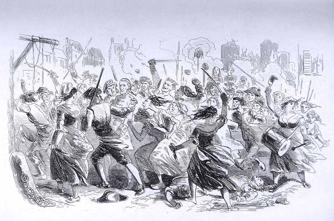 """Uno dei racconti più stampati da sempre: """"A Tale of Two Cities"""" è scritto in modo affascinante. Si parla della Rivoluzione francese e del Regime del Terrore e del comportamento in quelle circostanze. Ecco un assaggio di prosa magistrale ed affascinante.  """"«Ci vuole tanto tempo», ripeté la moglie, «e quando non ci vuole tanto tempo? Per la vendetta e la punizione occorre molto tempo. È così.» [segue]""""  #charlesdickens, #rivoluzionefrancese, #aristocrazia, #popolo, #leduecitta, #italiano,"""