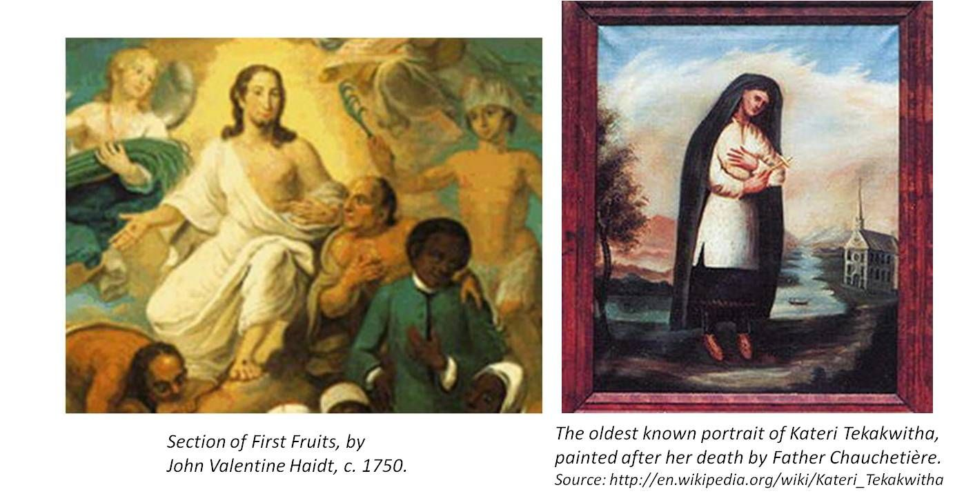 We can parallel Tschoop's/John's life with that of the Mohawk Indian convert who is now a saint--Katrina Tekakwitha.  This is reviewed in detail at my most popular page--http://brianaltonenmph.com/6-history-of-medicine-and-pharmacy/hudson-valley-medical-history/european-multiculturalism/moravian-indian-medicine/saintly-practices-and-brother-john/