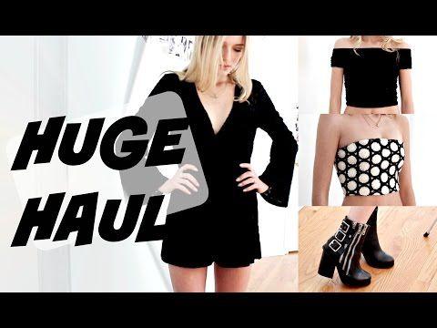 Brandy Melville, Urban Outfitters, LF Clothing Haul + try on // Kallie Kaiser - YouTube
