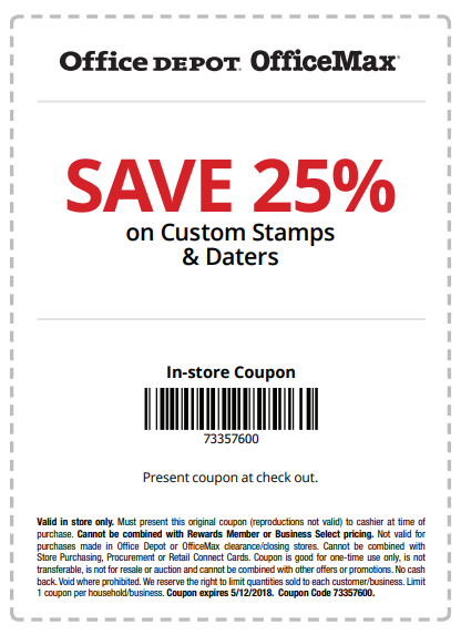 Office Depot Coupons 20 Off Coupon Promo Code 2021 Custom Stamps Coupons Store Coupons