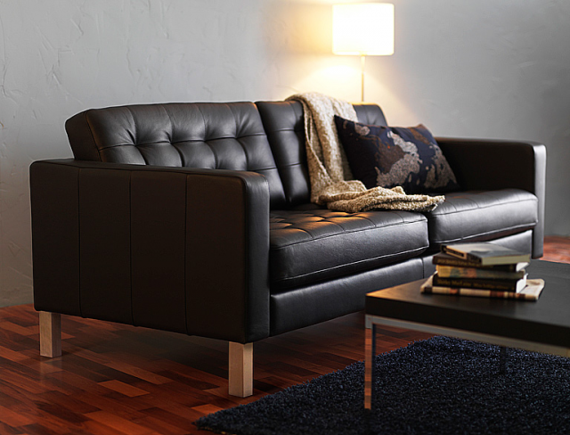 Ikea Black Leather Couch   Http://ddrive.info/