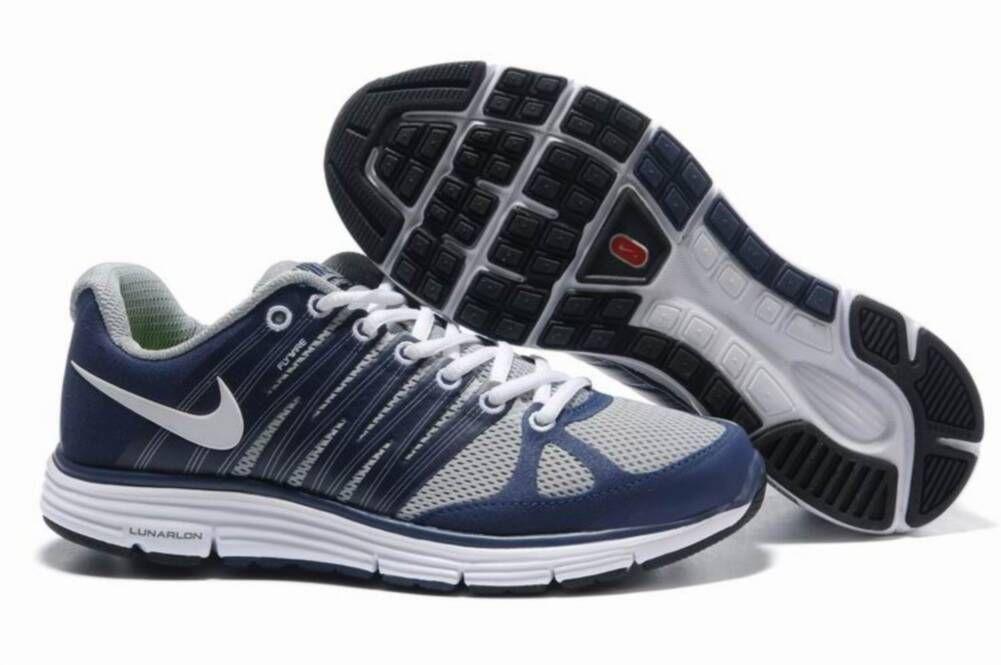 Mens Nike LunarElite 2 Grey Blue Shoes