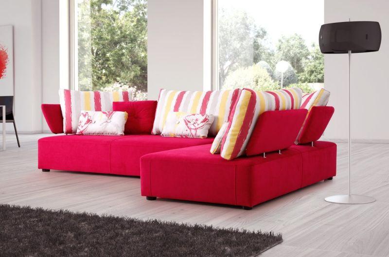 Hervorragend Big Sofa Oder Doch Wohnlandschaft Im Wohnzimmer? #xxlwohnlandschaft #lila  #polstermöbel #beige #grau