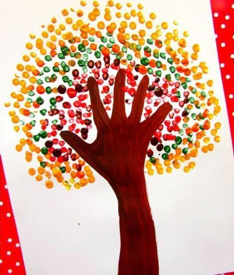 Quatang Gallery- Knutselen Kinderen Basisschool Herfst Boom Arm Omtrekken Inkleuren Met Verf Herfst Knutselen Herfst Knutselen Kinderen Verjaardag Knutselen Peuters