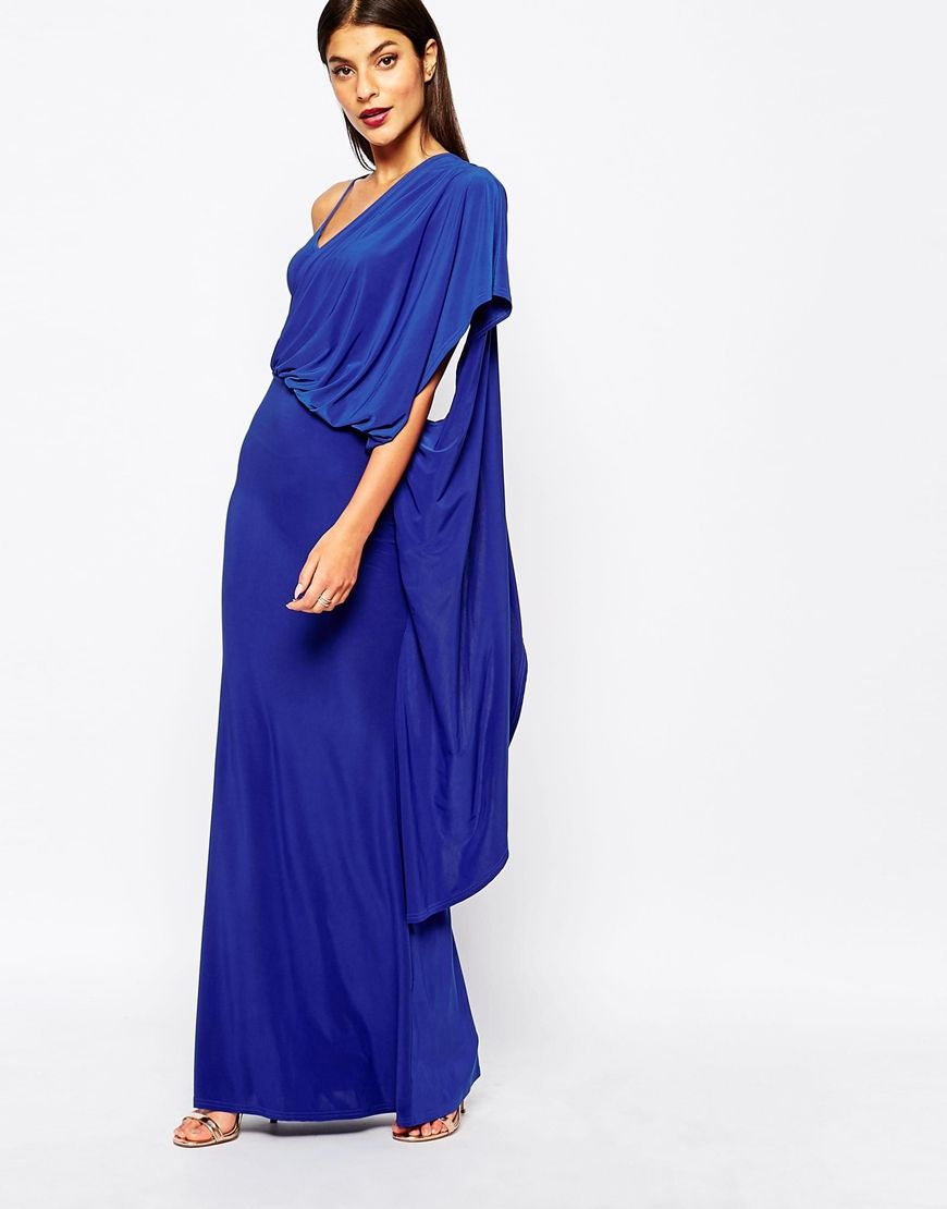 Club L One Shoulder Drape Maxi Dress | Evening Glam | Pinterest