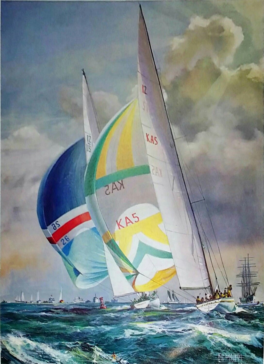 Excited to share the latest addition to my #etsy shop: Kipp Soldwedel Courageous Leading Australia 1977 Original Lithograph #art #print #lithograph #christmas #vintageprint #fineart #kippsoldwedel http://etsy.me/2CHQnyE