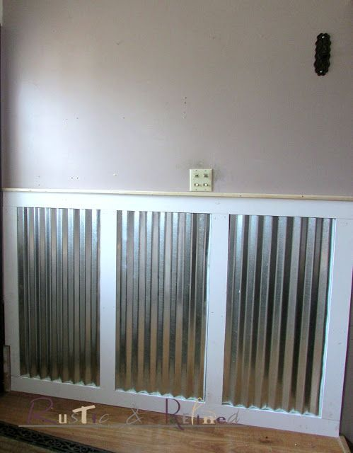 Using Galvanized Metal And Pre Primed Lumber For Industrial Wainscoting