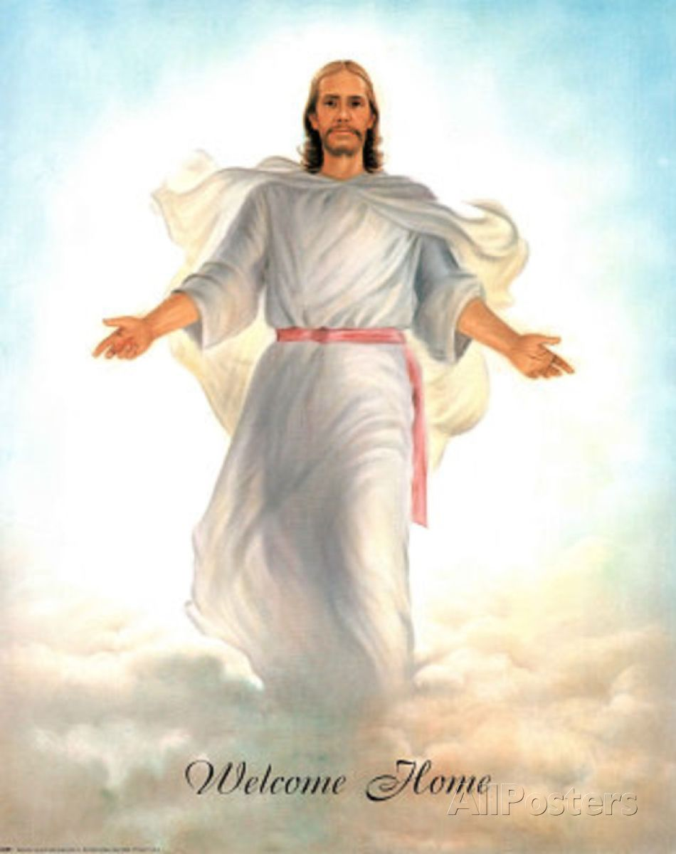 Pictures Heaven Jesus Jesus Christ Welcomes You To Heaven Print