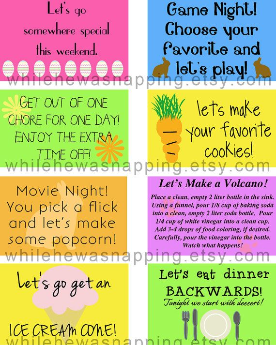 Kidu0027s Printable Coupons - Easter Basket Stuffer I made these for - fun voucher template